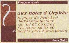 Aux Notes d'Orphée